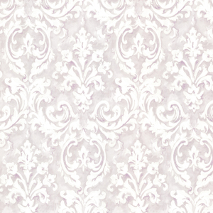 Aurora Lavender Damask Wallpaper 2605-21609