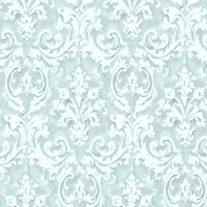 Aurora Blue Damask Wallpaper 2605-21610