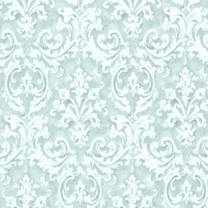 Aurora Blue Damask Wallpaper 2605-21610