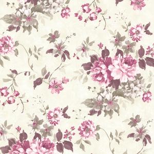Eloise Maroon Floral Wallpaper 2605-21614