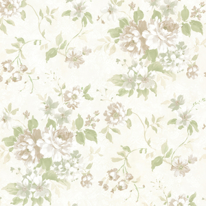 Eloise Green Floral Wallpaper 2605-21615