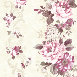 Alexandra Maroon Scroll Wallpaper 2605-21619