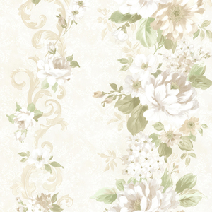 Alexandra Green Scroll Wallpaper 2605-21620