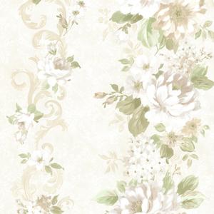 Alexandra Green Scroll Wallpaper 2605-21620