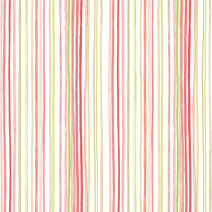Estelle Pink Watercolor Stripe Wallpaper 2605-21631