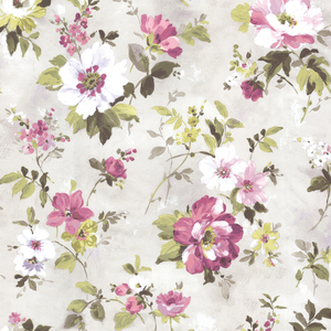 Amalia Purple Floral Garden Wallpaper 2605-21635