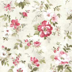 Amalia Magenta Floral Garden Wallpaper 2605-21636
