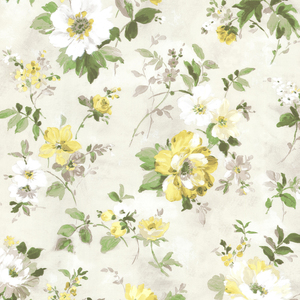Amalia Yellow Floral Garden Wallpaper 2605-21637