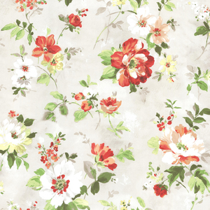 Amalia Red Floral Garden Wallpaper 2605-21638