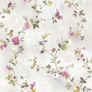 Isabella Purple Floral Trail Wallpaper 2605-21639