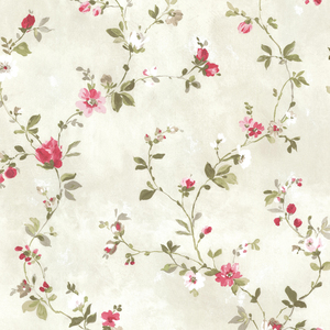 Isabella Magenta Floral Trail Wallpaper 2605-21640
