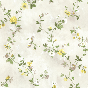 Isabella Yellow Floral Trail Wallpaper 2605-21641