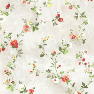 Isabella Red Floral Trail Wallpaper 2605-21642