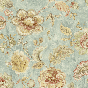 Olivia Blue Jacobean Floral RW40002