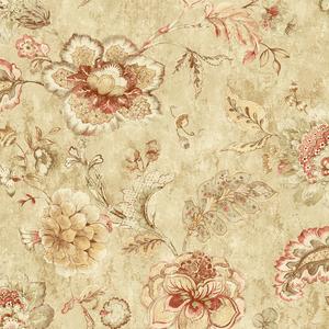 Olivia Wheat Jacobean Floral RW40008