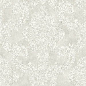 Oria Light Grey Damask RW40200