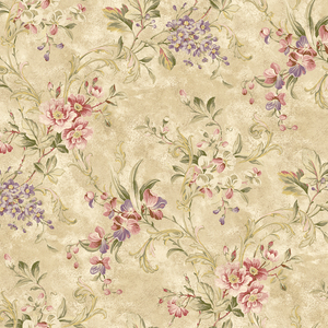 Donatella Wheat Floral Trail RW40405