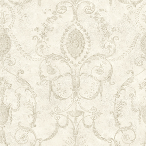 Marche Light Grey Damask Urn RW40502