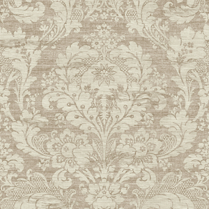 Loren Wheat Fabric Damask RW40601