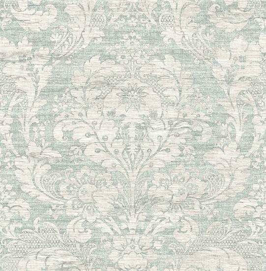 Loren Blue Fabric Damask RW40602