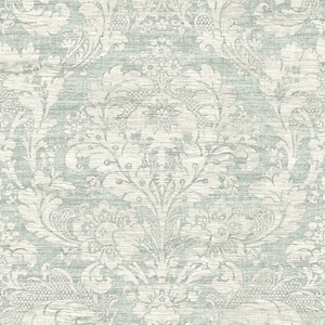Loren Blue Fabric Damask RW40602