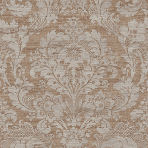 Loren Taupe Fabric Damask RW40606