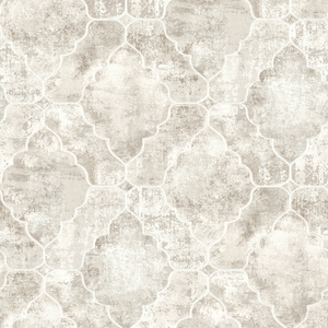 Palazzo Light Grey Quatrefoil Geometric RW41005
