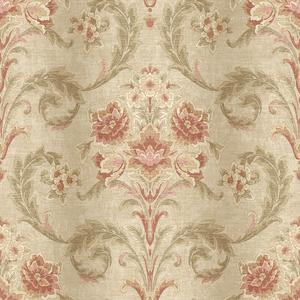 Sophie Mauve Floral Scroll RW41101