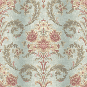 Sophie Aquamarine Floral Scroll RW41104