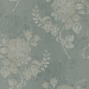 Astrud Green Turquise Floral Wallpaper 601-58401