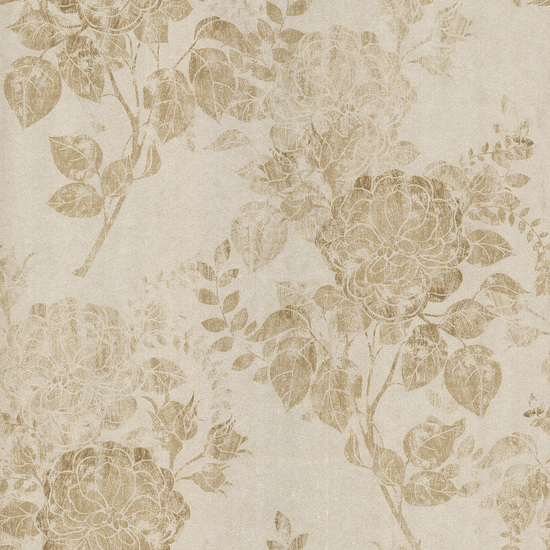 Astrud Beige Turquise Floral Wallpaper 601-58402