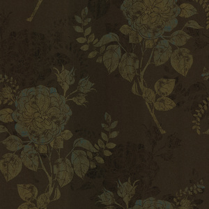 Astrud Brown Turquise Floral Wallpaper 601-58404