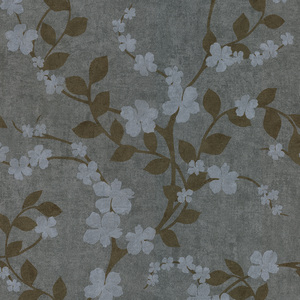 Cheri Slate Blossom Floral Wallpaper 601-58413