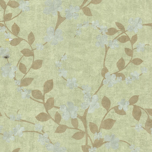 Cheri Green Blossom Floral Wallpaper 601-58415