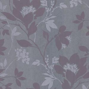 Carina Silver Silhouette Floral Wallpaper 601-58433