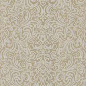 Royale Cream Wavy Damask Wallpaper 601-58441