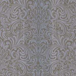 Royale Silver Wavy Damask Wallpaper 601-58443