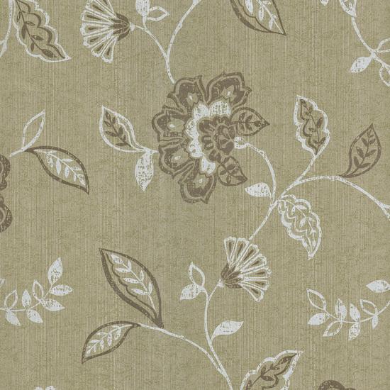 Adelise Olive Jacobean Wallpaper 601-58449