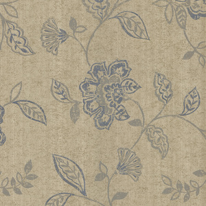 Adelise Blue Jacobean Wallpaper 601-58451