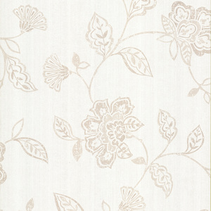Adelise Cream Jacobean Wallpaper 601-58453