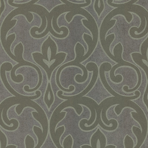 Dior Grey French Damask Wallpaper 601-58457