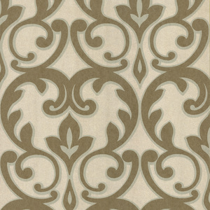 Dior Gold French Damask Wallpaper 601-58462