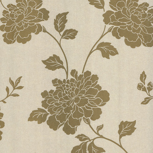 Keika Gold Japanese Floral Wallpaper 601-58465