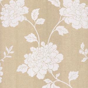 Keika Champagne Japanese Floral Wallpaper 601-58467