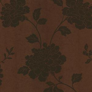 Keika Copper Japanese Floral Wallpaper 601-58469