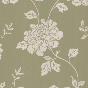 Keika Olive Japanese Floral Wallpaper 601-58470