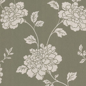 Keika Grey Japanese Floral Wallpaper 601-58471