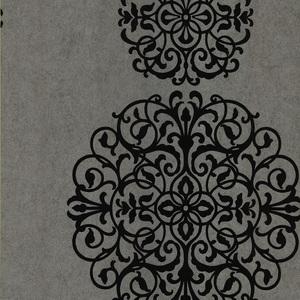 Iman Silver Medallion Wallpaper 601-58473