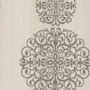 Iman Taupe Medallion Wallpaper 601-58475