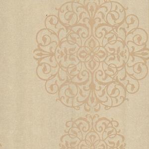 Iman Champagne Medallion Wallpaper 601-58476